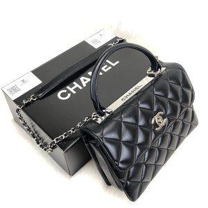 Chanel Trendy Coco Flapbag %100 Original Leather